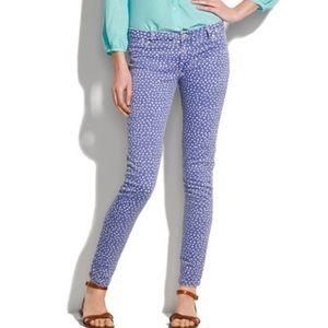 J. Crew Toothpick Polka Dot Skinny Jeans